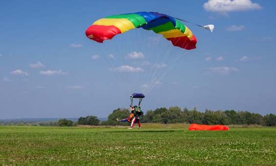 Skydive landing on Cape Cod