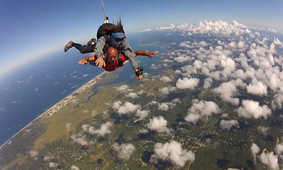 amazing skydive views over Cape Cod