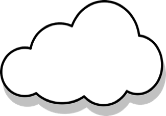 Cloud shape with waiver information