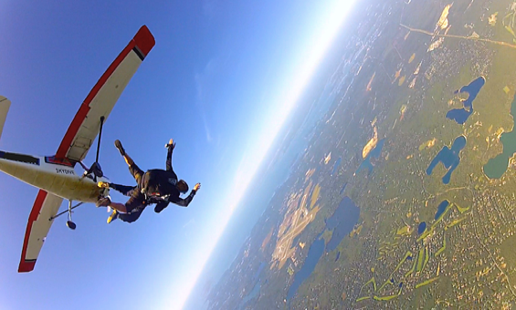 tandem skydiving on Cape Cod