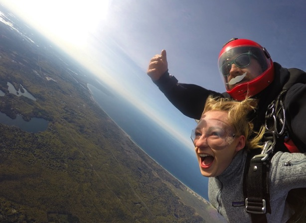 skydiving in New England